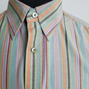 Robert Graham Rainbow Striped Button Down Shirt